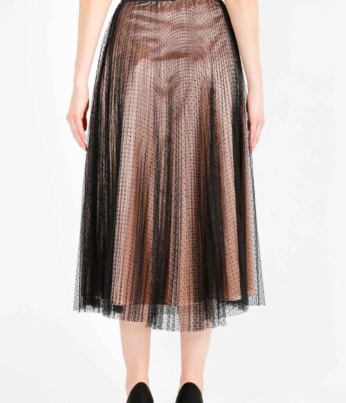 ELISA FANTI FW 2020/21 SERIE EFLace&Lace GONNA LUNGA IN TULLE PLUMETIS A POIS