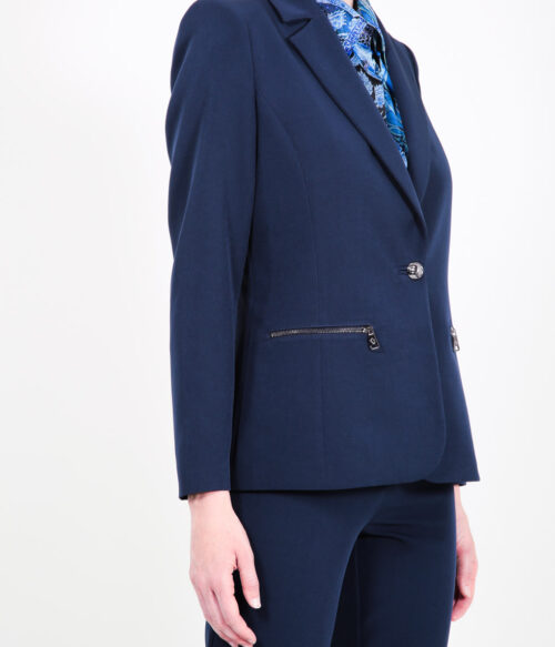 ELISA FANTI F/W 21/22 SERIE Blue Emotion GIACCA MONOPETTO IN CADY