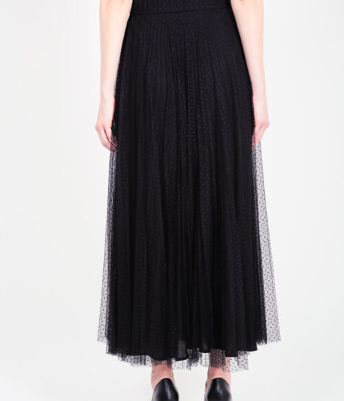 ELISA FANTI F/W 21/22 SERIE ForeveRed GONNA LUNGA A RUOTA IN TULLE PLUMETISSE