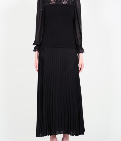 ELISA FANTI F/W 21/22 SERIE ForeveRed GONNA LUNGA A RUOTA IN GEORGETTE